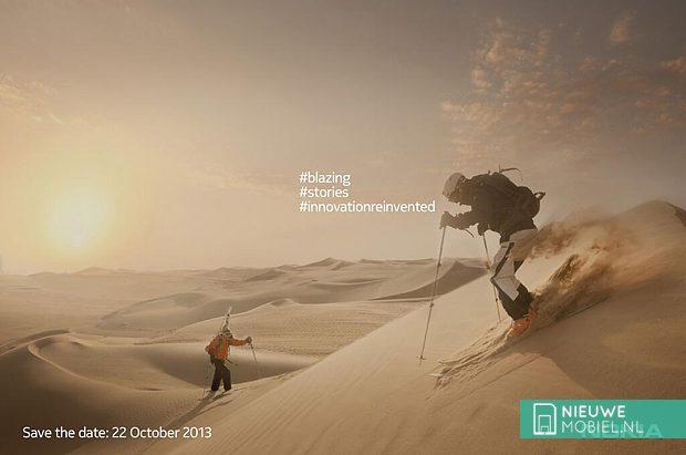 Nokia verstuurt uitnodiging voor 22 oktober, mogelijk voor Lumia 1520