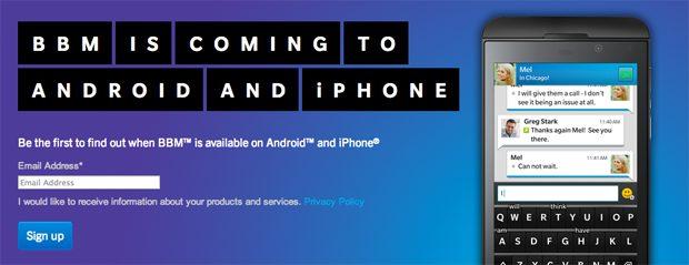 Uitrol BBM voor Android en iOS uitgesteld