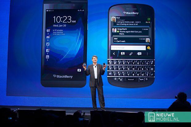 BlackBerry Z10 Q10 launch
