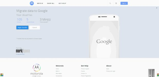 Google iCloud migration