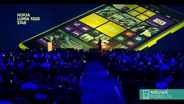 Nokia Lumia 1520 during Nokia World