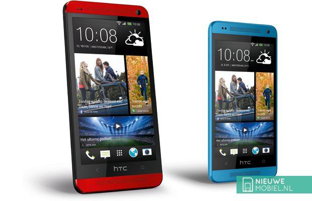 HTC One en One mini nu ook in blauw en rood