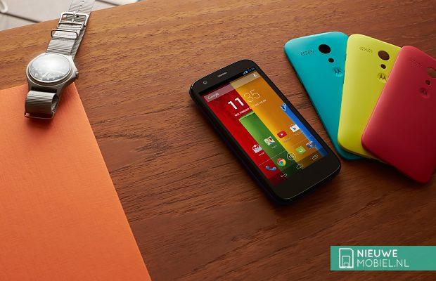 Motorola Moto G on desk