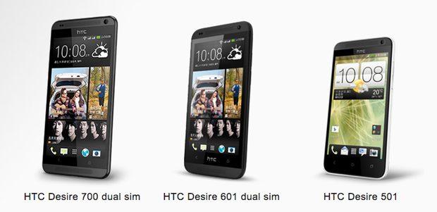 HTC Desire 700, Desire 601 en Desire 501