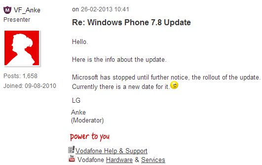 Windows Phone 7.8 roll out