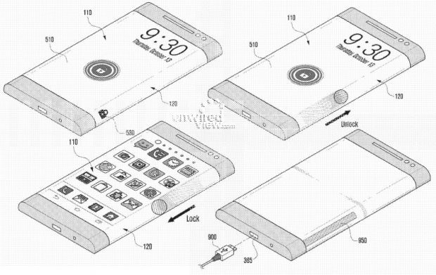 Samsung Flexible Sidescreen patent