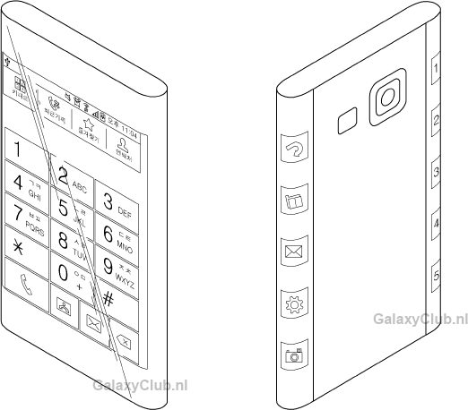 Samsung patent flexible display
