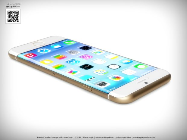 iPhone 6 render with round display