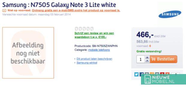 Galaxy Note 3 Lite in shop