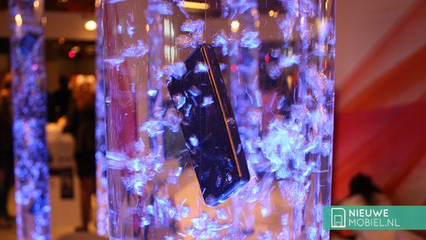 Sony Xperia phone submerged