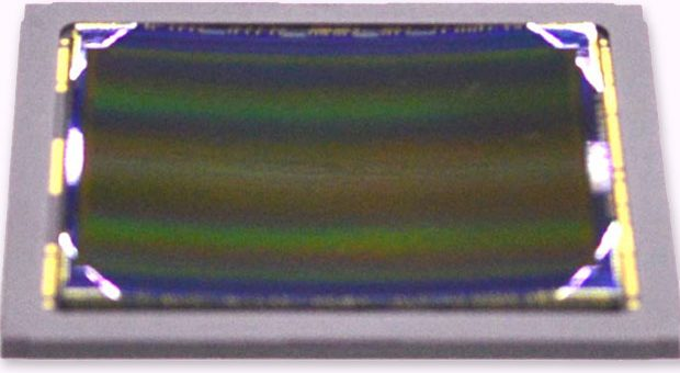 Curved CMOS sensor from Sony