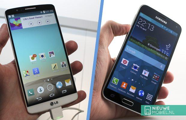 LG G3 and Samsung Galaxy S5