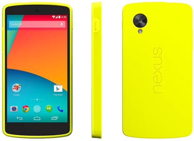 Google Nexus 5 binnenkort in opvallend geel