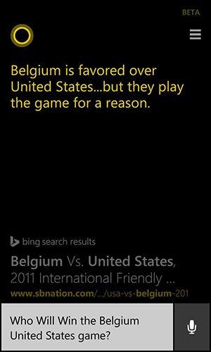 Cortana prediction