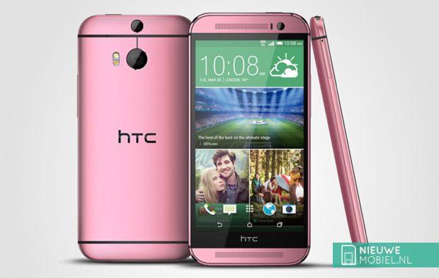 HTC brengt rode en roze One (M8) uit