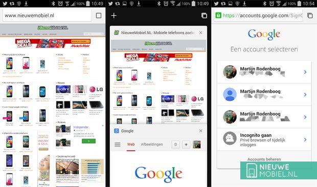 Google updatet ook Chrome for Android met Material Design-uiterlijk