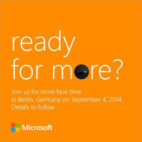 Microsoft IFA press invite