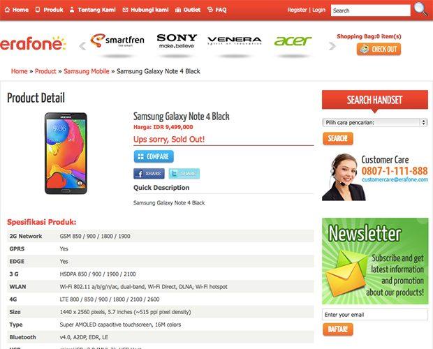 Eraphone Samsung Galaxy Note 4