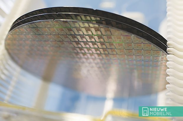 NXP wafer with chips