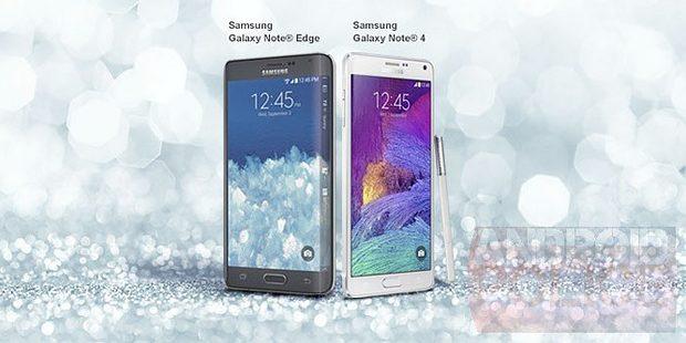 Samsung Galaxy Note Edge en Note 4