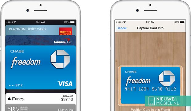 Apple Pay scan creditcard