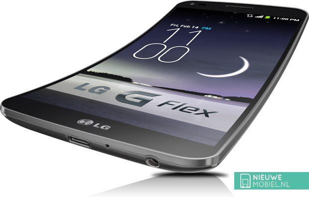 LG G Flex angle