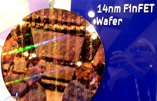 Samsung 14nm FinFET wafer