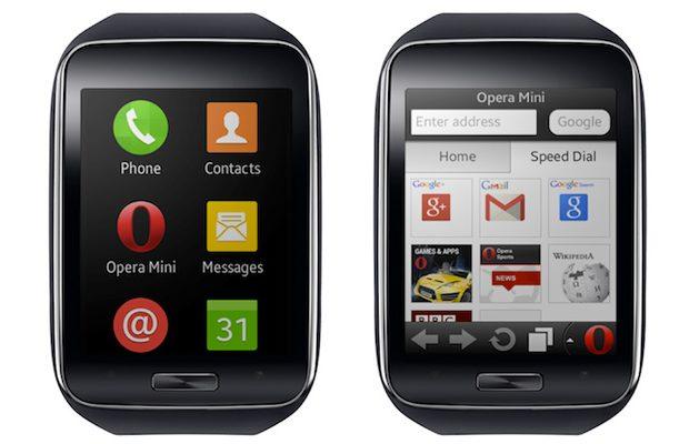 Opera mini on Samsung Gear S