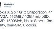 Specificaties Nokia X Normandy bevestigd