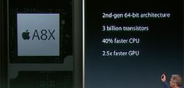 Apple A8X-processor in iPad Air 2 bevat drie kernen