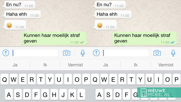 WhatsApp voegt leesbevestiging toe in de vorm van 'blauwe vinkjes'