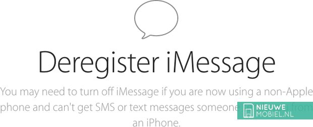 Apple lanceert iMessage-afmeldtool voor oud-iPhone-gebruikers