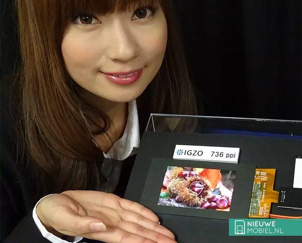Sharp heeft beeldscherm met 2K-resolutie op 4,1 inch formaat