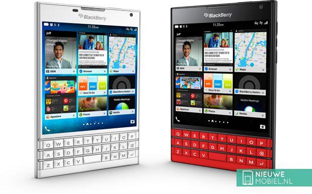 BlackBerry biedt Passport nu ook in het wit en rood aan