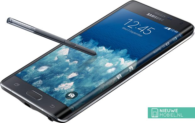 Samsung Galaxy Note Edge black angle