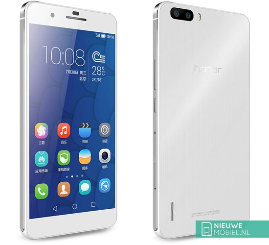 Honor 6 Plus front and rear