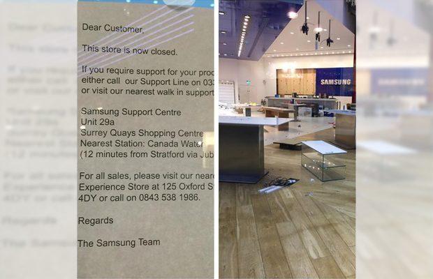 Samsung sluit eigen Experience Store in Londen