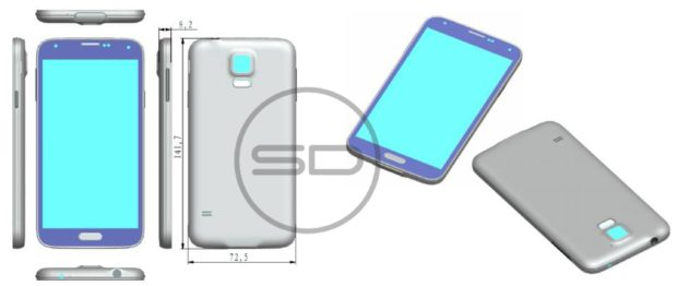 Design Sketch Samsung Galaxy S5