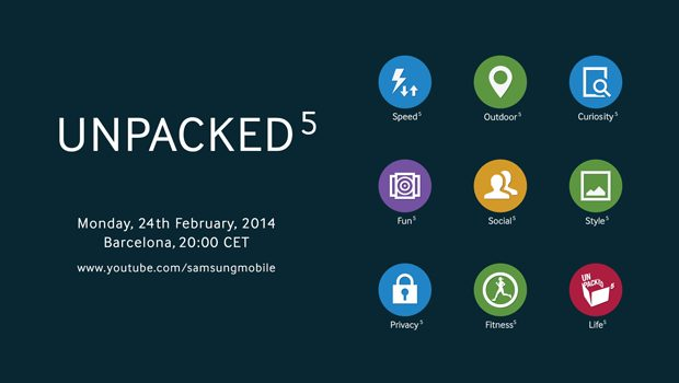 Samsung Unpacked 5 teaser for Galaxy S5