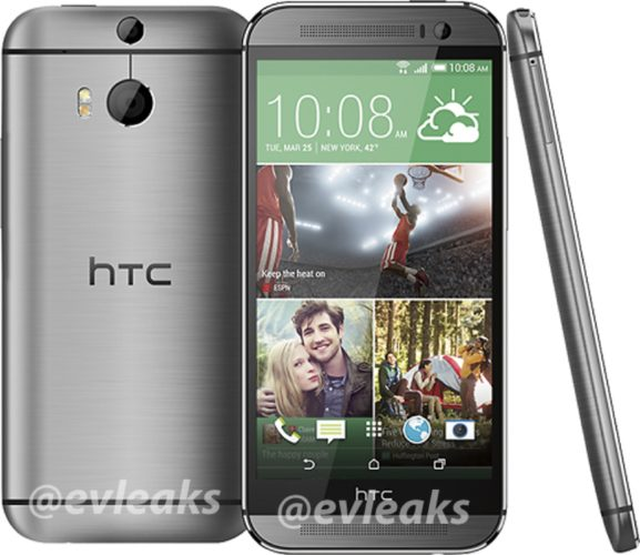 HTC M8 silver