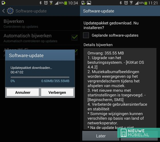 Samsung Galaxy S4 Android 4.4 KitKat