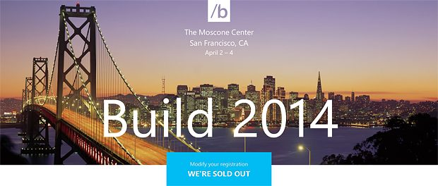 Build 2014 sold out