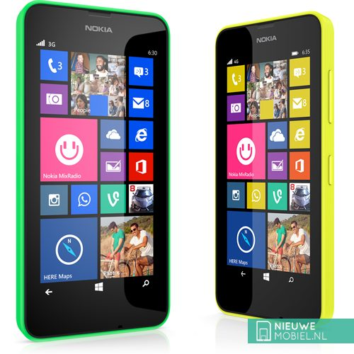 Nokia Lumia 630 and Lumia 635