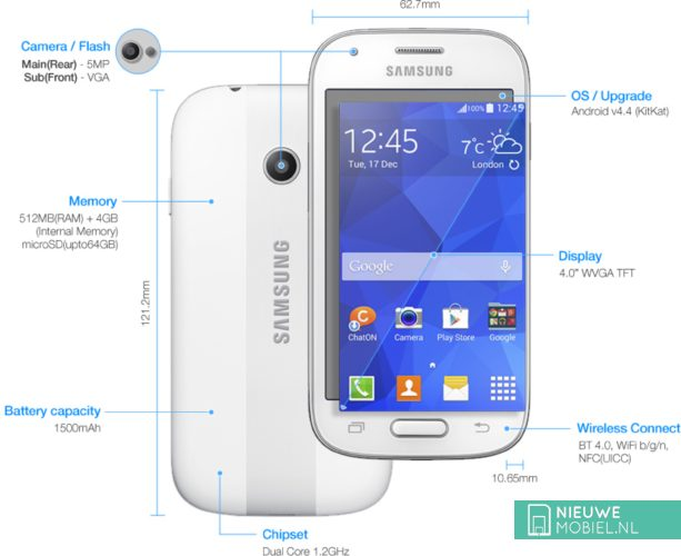 Samsung Galaxy Ace Style product specifications
