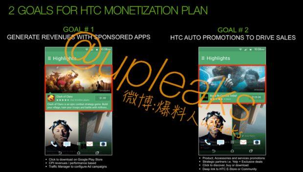 HTC BlinkFeed monitize