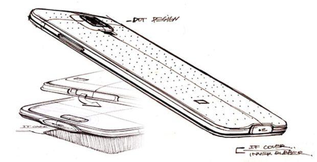 Samsung Galaxy S5 design sketch