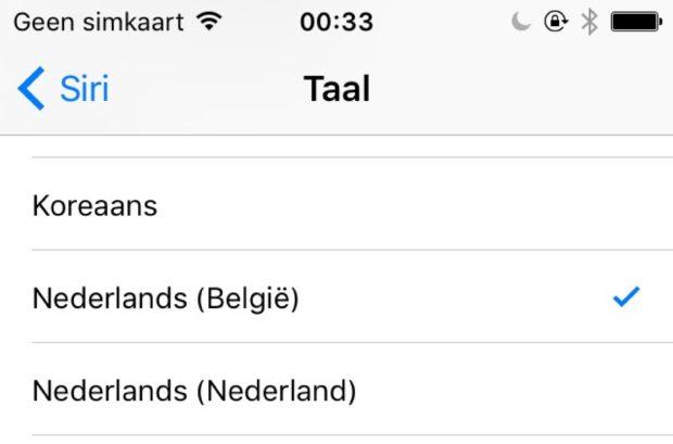 Siri in het Vlaams