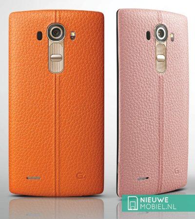 LG G4 oranje en roze