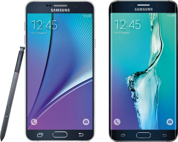 Samsung Galaxy Note 5 en S6 edge Plus render
