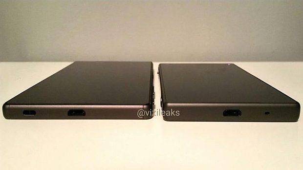 Sony Xperia Z5 en Z5 Compact onderkant